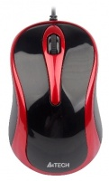 A4 Tech Wired Mouse V-Track 4-Way Wheel Red Photo