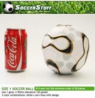 Mini Size 1 Gloss White Soccer Ball Photo