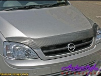 Carbon Look Bonnet Shield to fit Nissan Murano 05 Photo