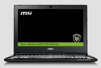 """MSI WS60-6QH 6th gen Workstation Notebook Intel Quad i5-6300HQ 2.30Ghz 8GB 1TB 15.6"""" FULL HD M600M 2GB BT Win 10 Pro Photo"""