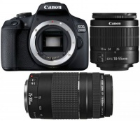 Canon EOS 2000D 24 MegaPixel Digital Camera - Double DC Kit Photo