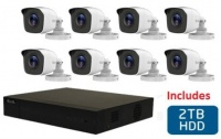 Hikvision HiLook 8 Channel DVR with 8x 720p HD Bullet Cameras and 2TB hard Disk drive DIY Combo Kit Photo