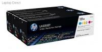 HP 131A 3-pack Cyan/Magenta/Yellow Original LaserJet Toner Cartridges Photo