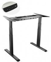 Lumi Black 3-Stage Dual Motor Electric Sit-Stand Desk Frame Photo