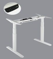 Lumi White 3-Stage Dual Motor Electric Sit-Stand Desk Frame Photo