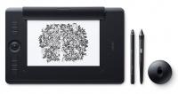 Wacom Intuos Pro M Medium Tablet Black Multitouch with Pro Pen 2 Stylus Photo