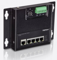 TRENDnet TI-PG50F 5-Port Industrial Gigabit PoE Wall-Mounted Front Access Switch Photo