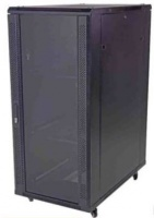 Unbranded 27U 600 x 600 mm standing cabinet Double mesh front solid back Photo