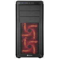 Corsair Graphite 230T All Black ATX PC Chassis with red led PC case Photo