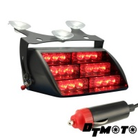 Unbranded DT MOTO Red 18x LED Firefighter EMT Personal Emergency Vehicle Strobe Warning Dash Light - 1 unit Photo