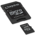 Kingston SDC4/32GB class4 - 4mb/sec - 32Gb micro SDHC with SD ad Photo