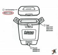 Coleman 5 gallon recreational cooler lid Photo