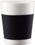 bodum double wall porcelain canteen set of 2 01l black liquor