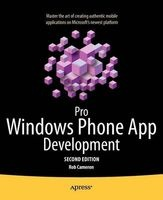 pro windows phone app development 2011 Rob Cameron