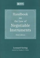 handbook on the law of negotiable instruments Leonard Gering