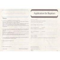 application for baptism