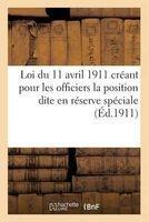 loi du 11 avril 1911 creant pour les officiers la position France