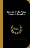 complete works with a memoir of the author Job 1790 1847 Durfee