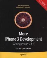 more iphone 3 development Jeff Lamarche
