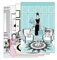 fashion house 4 mini notebooks Megan Hess