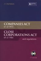 companies act 61 of 1973 close corporations act 69 of 1984 JT Pretorius