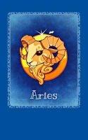 aries Horoscope Blank Notebooks