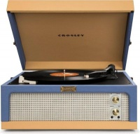 crosley dansette junior portable turntable and tan media player accessory