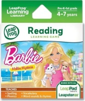 leapfrog reading learning game barbie malibu mysteries gaming merchandise