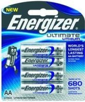energizer ultimate lithium aa 15v 4 pack battery