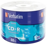 verbatim 43787 readwrite cd r 52x 700mb 50 piecess extra tablet pc