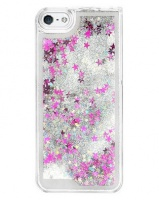 cell accessories iphone glitter waterfall case silver