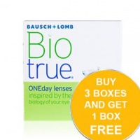bausch lomb biotrue oneday 90 pack r945 contact lense
