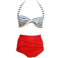 retro high waist bikini highwaisted two piece