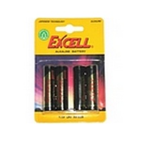 excell aaa alkaline battery card 4 lr03