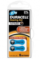 duracell easytab hearing aid 675 battery