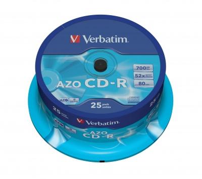 Verbatim CD R AZO Crystal 25 Pack