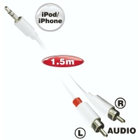 ellies ipod and iphone stereo cable 2rca 35mm