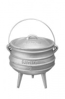 AfriTrail Aluminum Potjie Pot Size 2 Silver