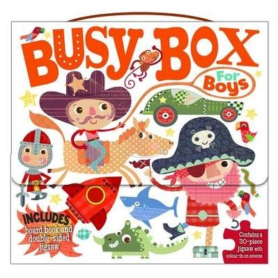 Photo of Busy Box for Boys- Book and Jigsaw Puzzle Set