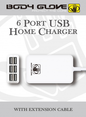 Photo of Body Glove 6 USB Port Home Charger - White