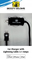 body glove 21amp car charger mifi lightning battery charger