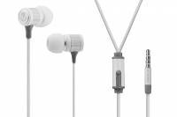 volkano metallic series vms201 earphones with mic white