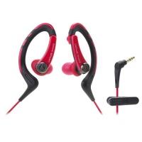 audio technica sonicsport in ear headphones red