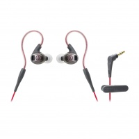audio technica sonicsport in ear headphone red