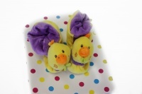 baby shoes yellow chick
