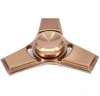 Copper Tri Fidget Spinner with High Speed Steel Ball Bearings