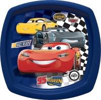 disney pixar cars 3 fast friends square shaped plate blue