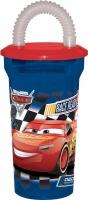 disney pixar cars 3 fast friends flexible straw tumbler