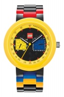 LEGO Clocks and Watches LEGO Clocks Watches Two by Two Adult Watch Black Yellow