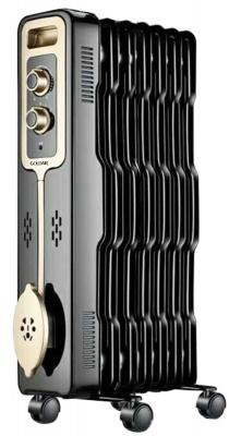 Goldair 7 Fin Oil Radiator Heater Black